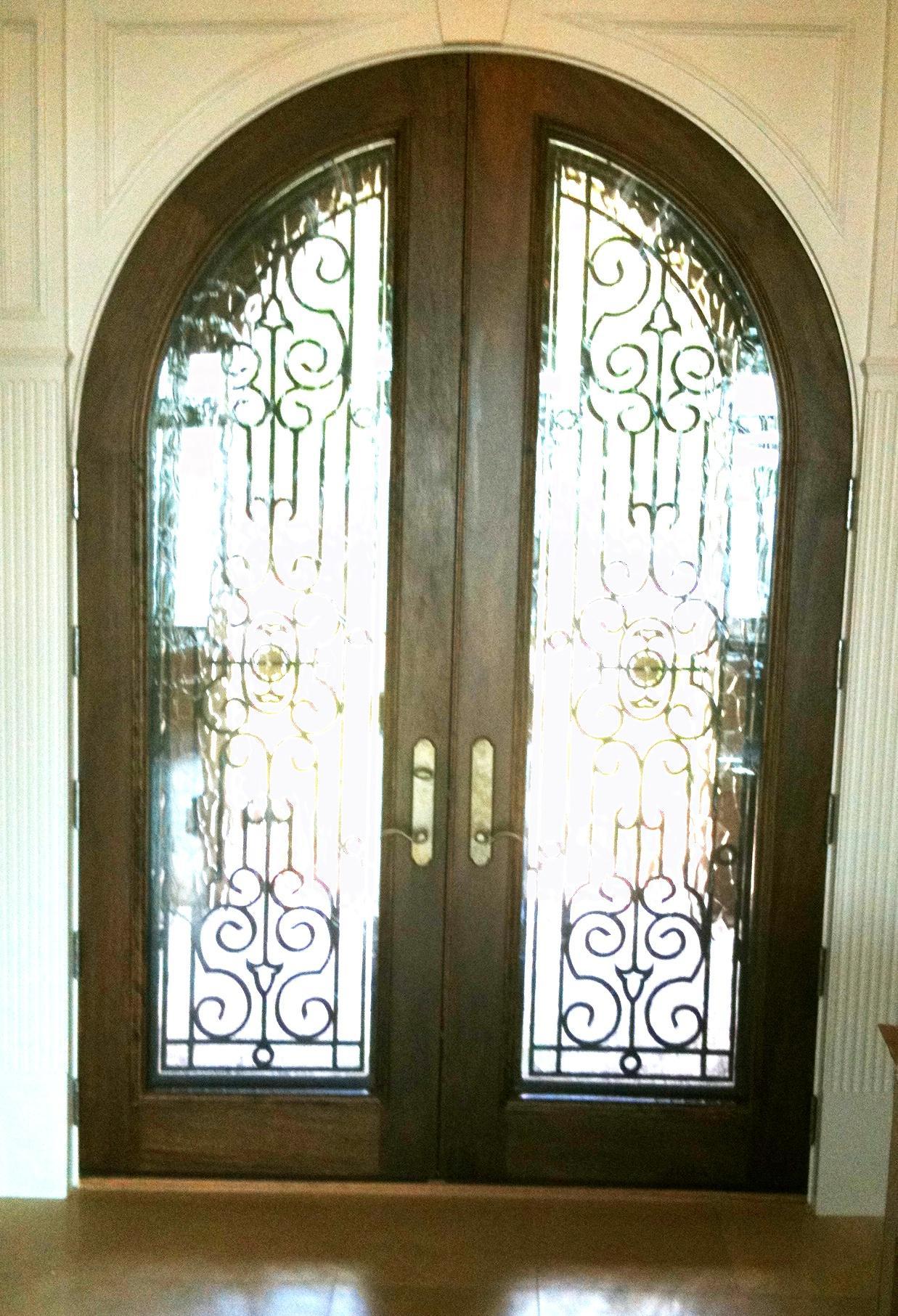 1813 #3B3117 Mahogany Entry Door wallpaper Radius Top Entry Doors 38951237